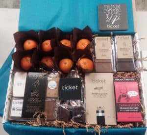 Corporate Gift Basket with Ticket and Kikas Treats
